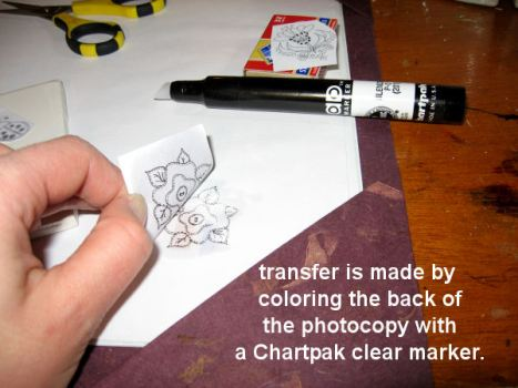look how easy it is to transfer images with a marker! Imagine the possibilities!