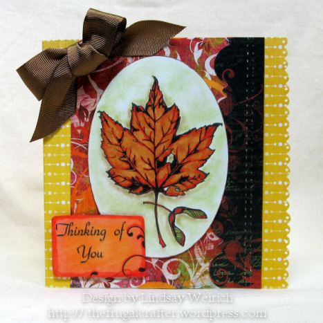 Digital Stamps: Lindsay's Stamp Stuff (leaf prints and sketchy leaves set) PP: Bo Bunny