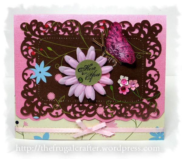 Die cut: Mujka Design, Digital Stamp (butterfly) Lindsay's Stamp Stuff, Paper: American crafts, Cardstock: Co'Ordanations, Rubber stamp (sentiment) SU!