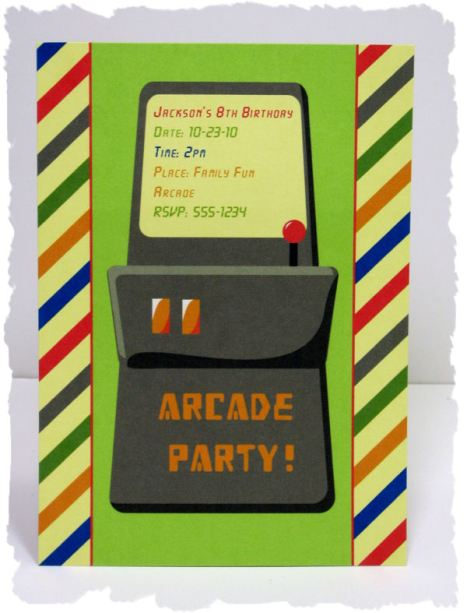 kids party ideas – Arcade Party Invitations