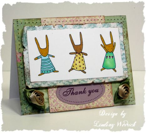 Card from the Dec/Jan issure of Ready Set Create by Lindsay Weirich.
