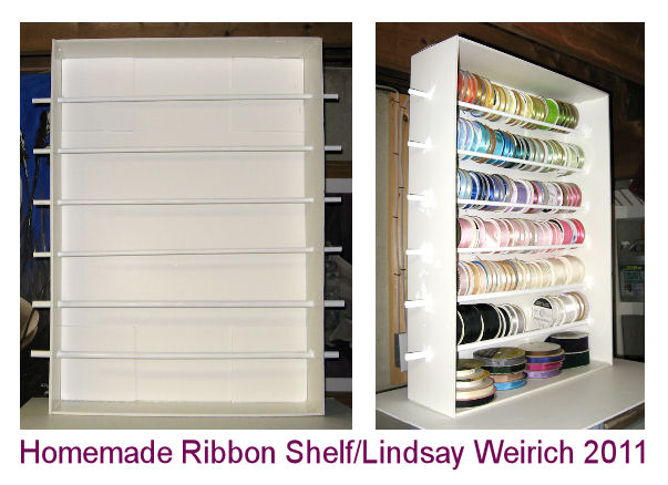 Lets Make A Ribbon Shelf The Frugal Crafter Blog