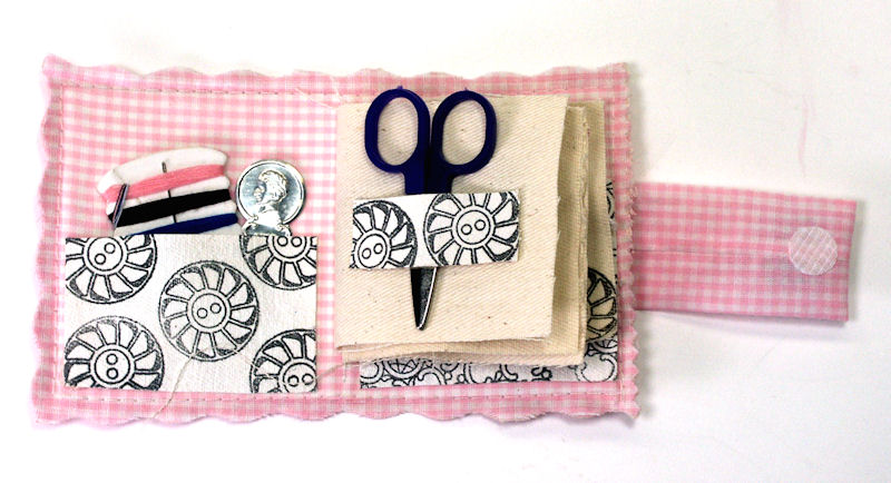 Book Cover Sewing Kit ~ Cute gift handmade sewing kit thefrugalcrafter s we