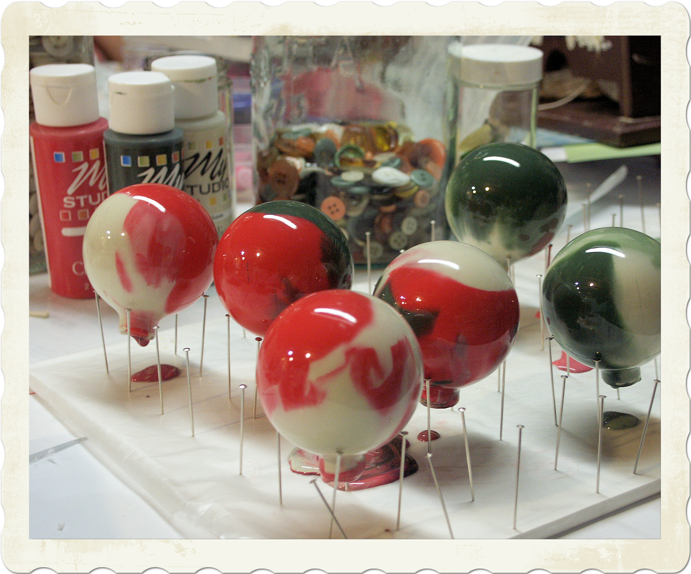 Clear glass craft ornaments -  Clear Glass Ornaments And Acrylic Paint Here S How