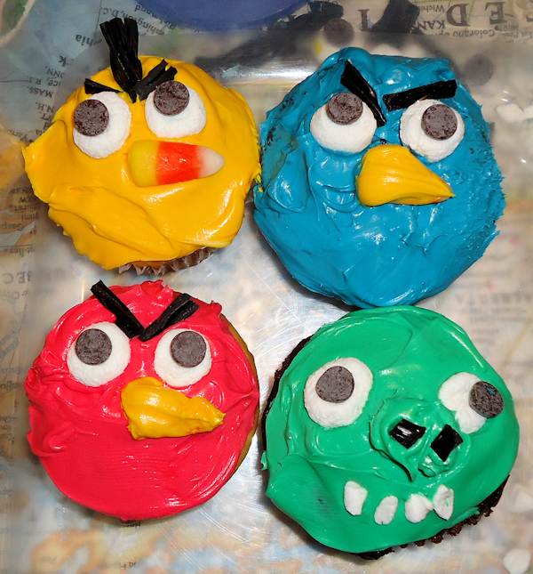 diy angry bird cupcakes The Frugal Crafter Blog