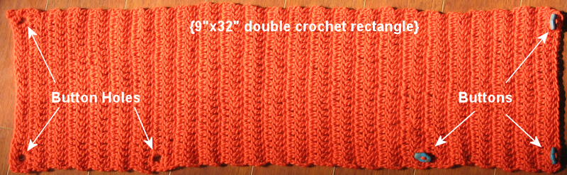 Crochet Overcast Stitch : Free Crochet Cowl Pattern & Perfect Button Video! Thefrugalcrafter...