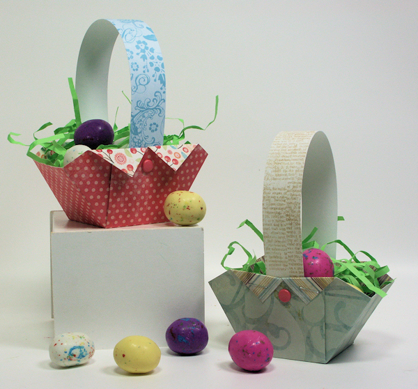how to make woven easter baskets out of paper