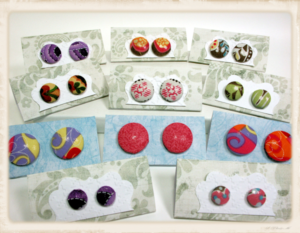 Completely new earring cards | The Frugal Crafter Blog GK51