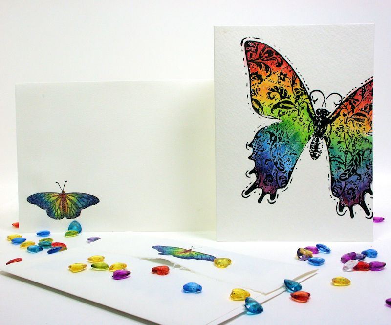 make a card in less than 10   another inktense demo
