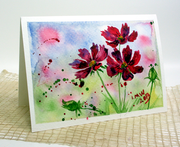 How to paint flowers in watercolor thefrugalcrafter 39 s weblog for Easy watercolor for beginners