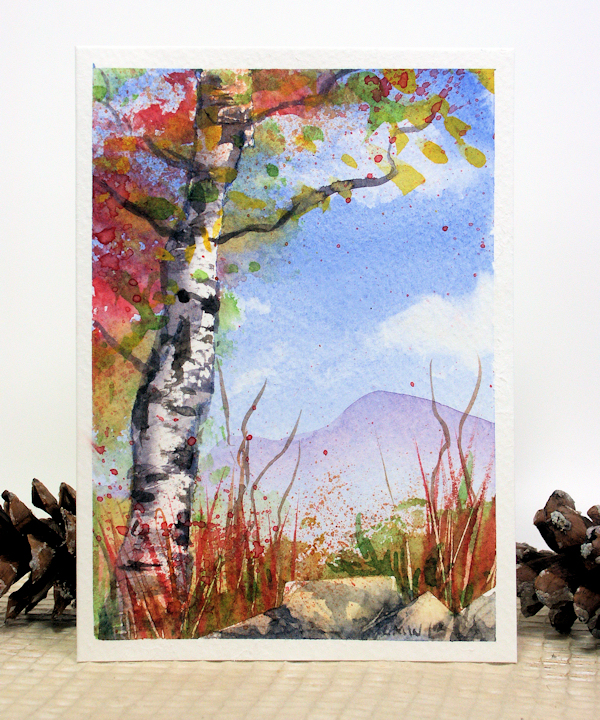 Let's Paint Blue Skies and Birch Trees Today! | The Frugal