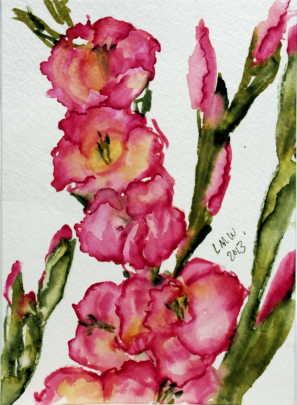 Paint Gladiolus in 8 Minutes with Watercolor Markers ...