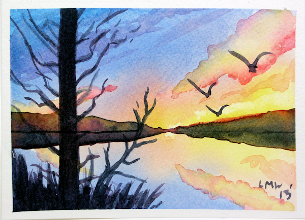 Free watercolor tutorial thefrugalcrafter 39 s weblog for Easy watercolor for beginners