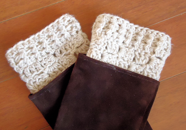 Easy Boot Cuff Crochet The Frugal Crafter Blog
