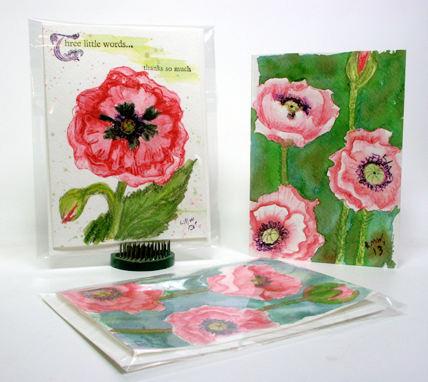 A Tale of Two Poppies: Beginner Watercolor Videos!