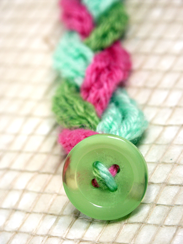 Crocheting Easy Projects : ... crochet hook that will fit through a button hole and a medium crochet