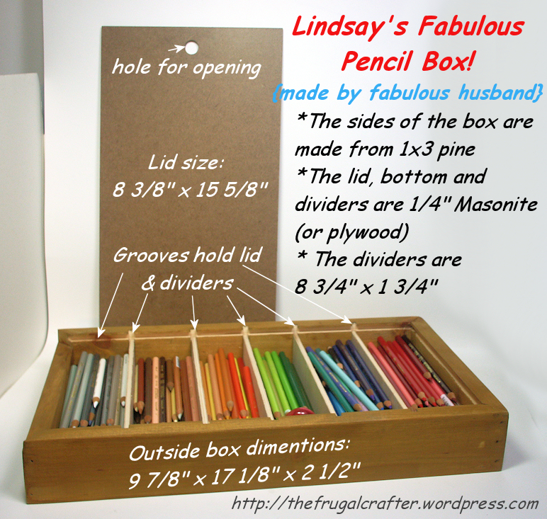 Fabulous Diy Colored Pencil Storage The Frugal Crafter Blog
