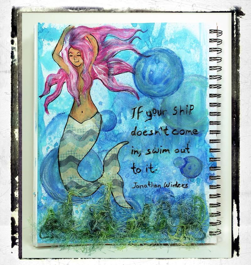 Mixed Media Fun: Mermaid Page