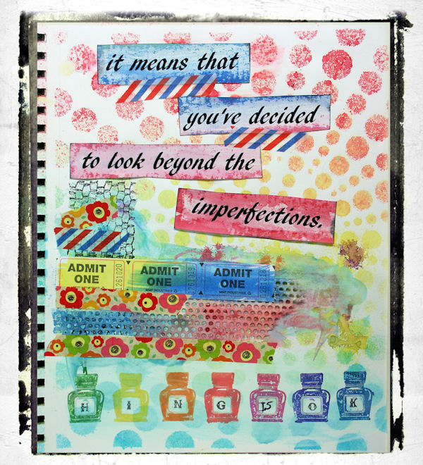 Mixed Media Fun: Wax, Watercolor, Stencils, Stamping and Sprays!