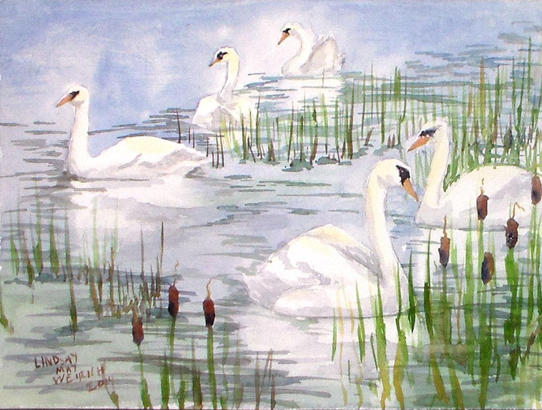 Let s paint swans beginner watercolor tutorial in 4 for Video tutorial on watercolor painting