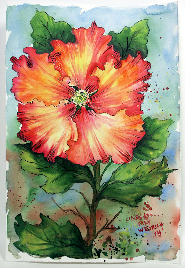 let u2019s paint a hibiscus in watercolor