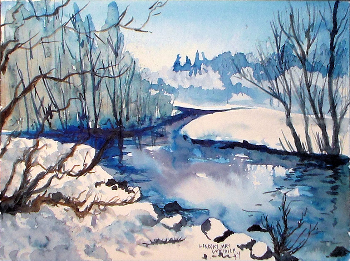 Let's paint an icy cold landscape