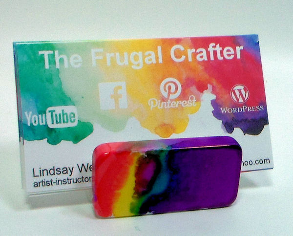Diy business card holder the frugal crafter blog watch the video to see how easy this project is reheart Images