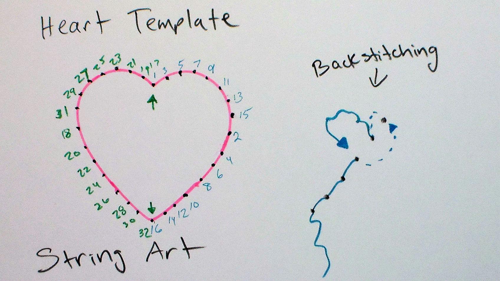 heart string art on a card the frugal crafter blog. Black Bedroom Furniture Sets. Home Design Ideas