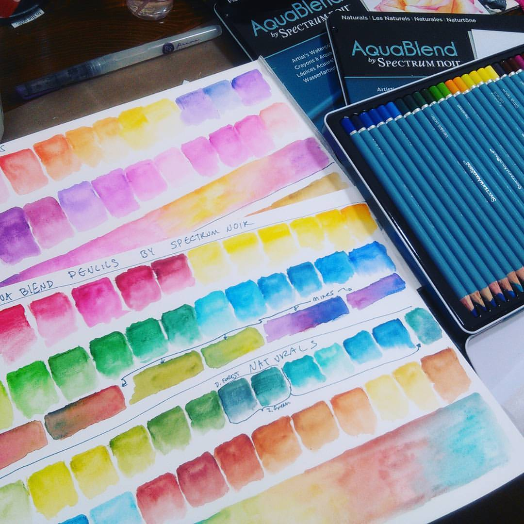 New Aquablend Watercolor Pencils By Spectrum Noir Review