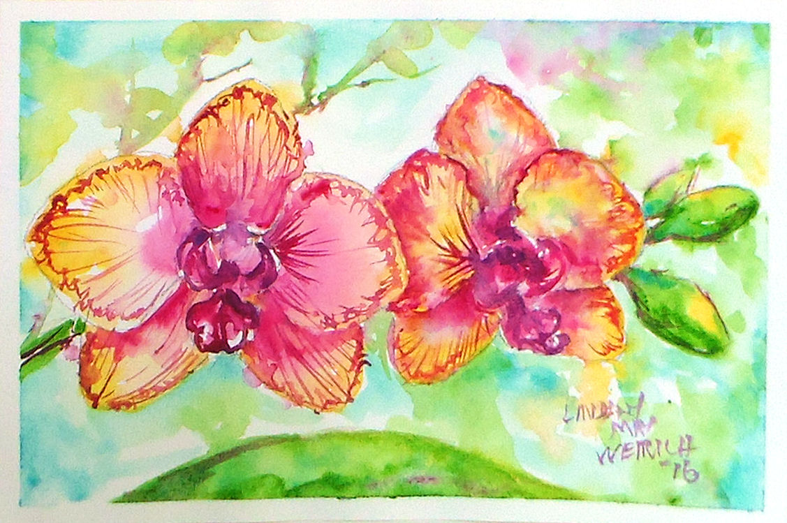 Live Orchid Painting Tutorial NOW with Faster Internet