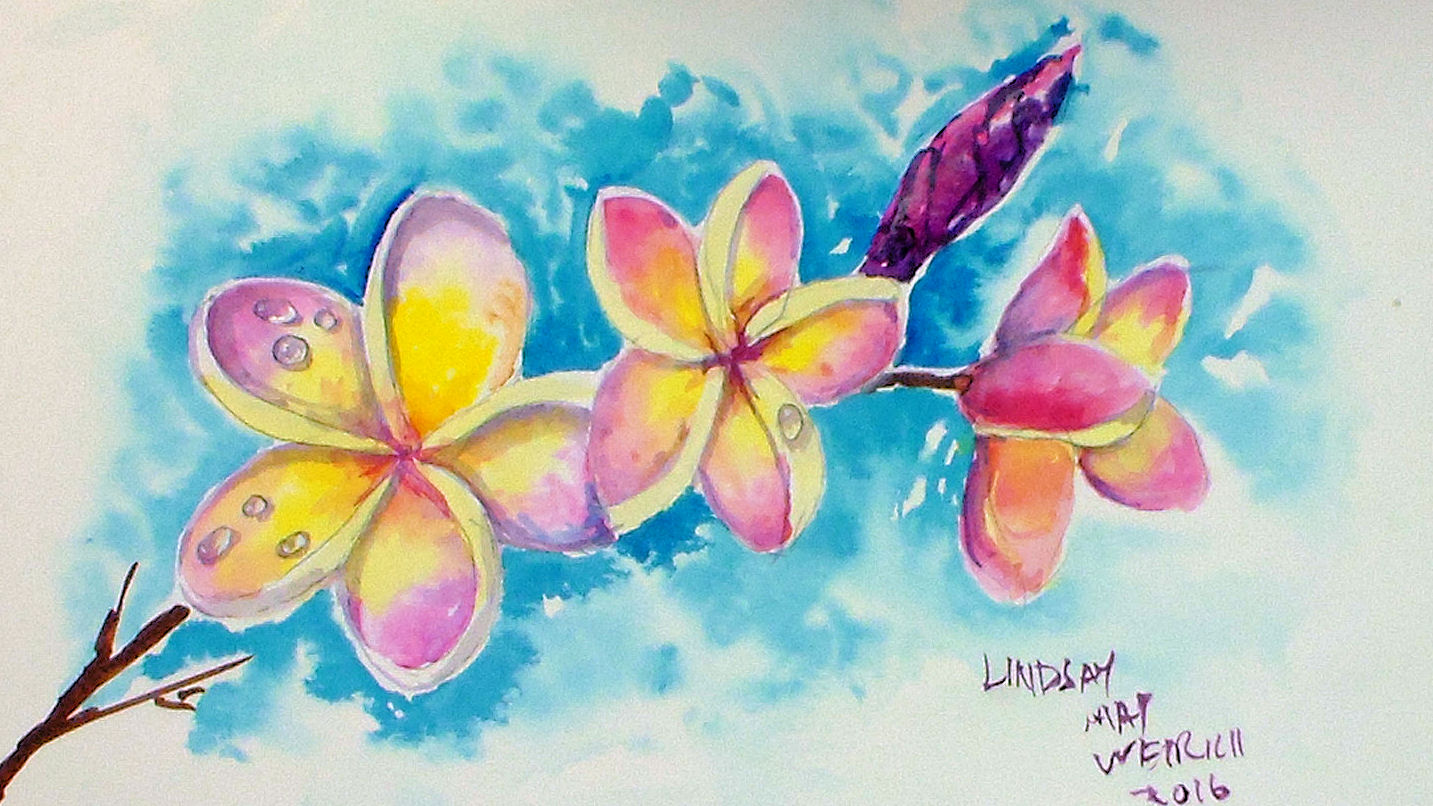How To Use Acrylics Like Watercolors And Paint Dew Drops