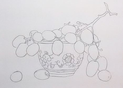 teacup_with_grapes_patttern