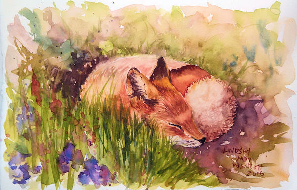 hey foxy   beginner real time watercolor tutorial