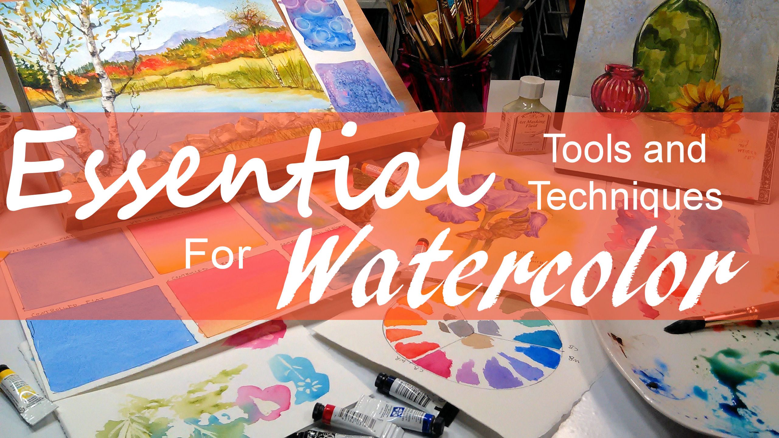 Playing with Watercolor Texture & Irricdecent Mediums & 50% Off Gift Certificates!