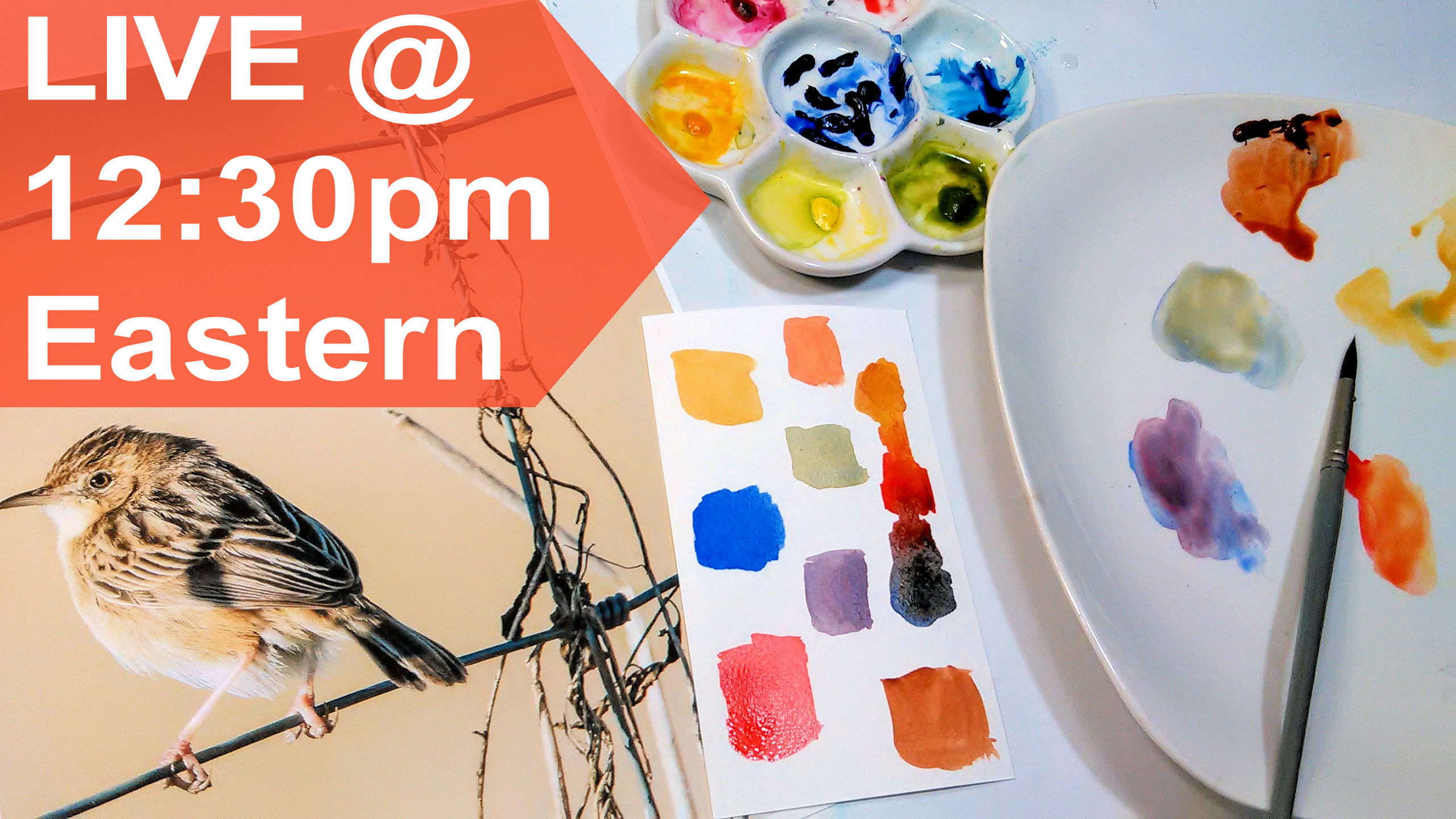A LIVE Show Today & a NEW Watercolor Class!