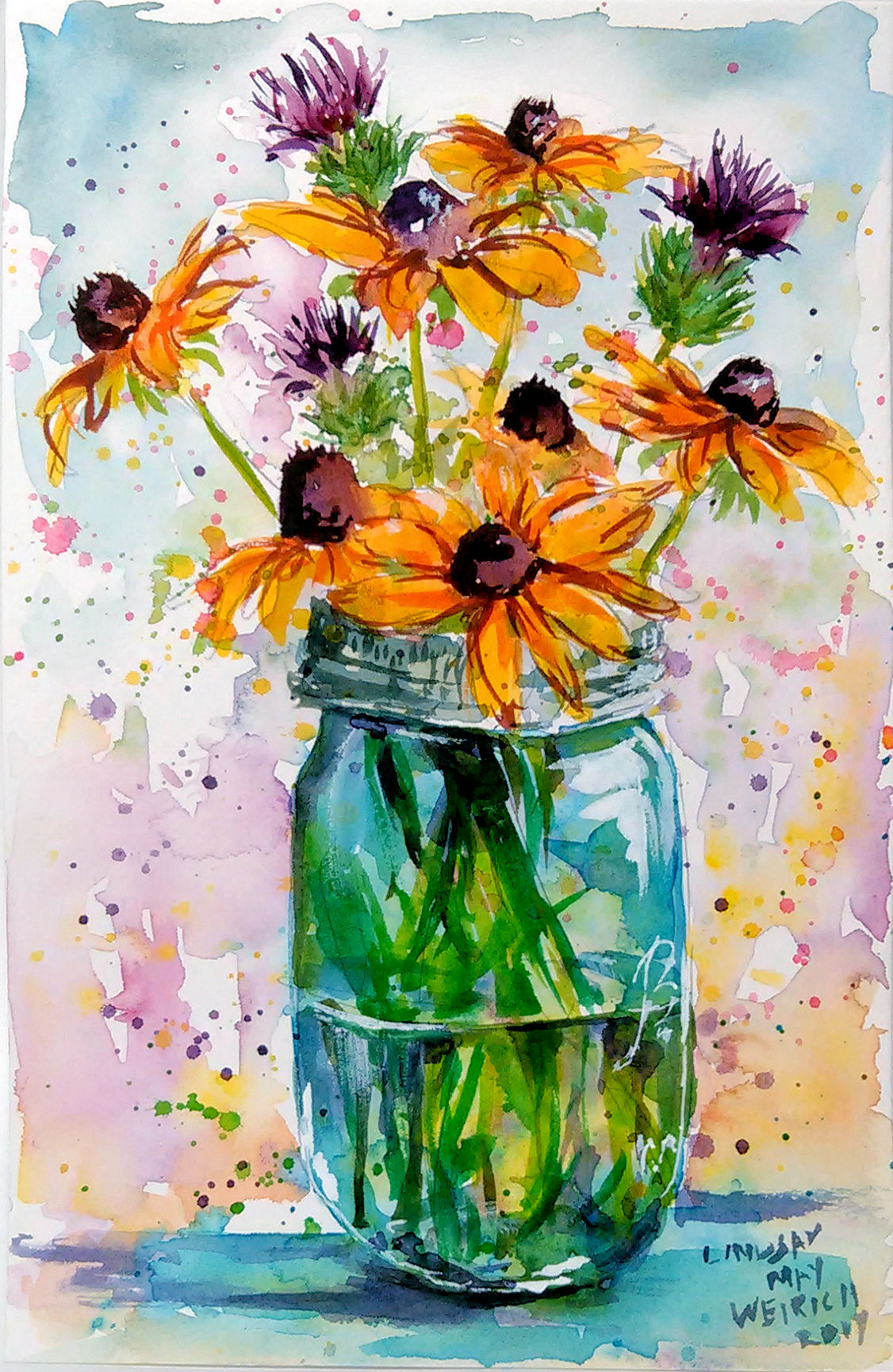 LIVE! Loose Watercolor Floral Bouquet Today @ 12:30pm ET