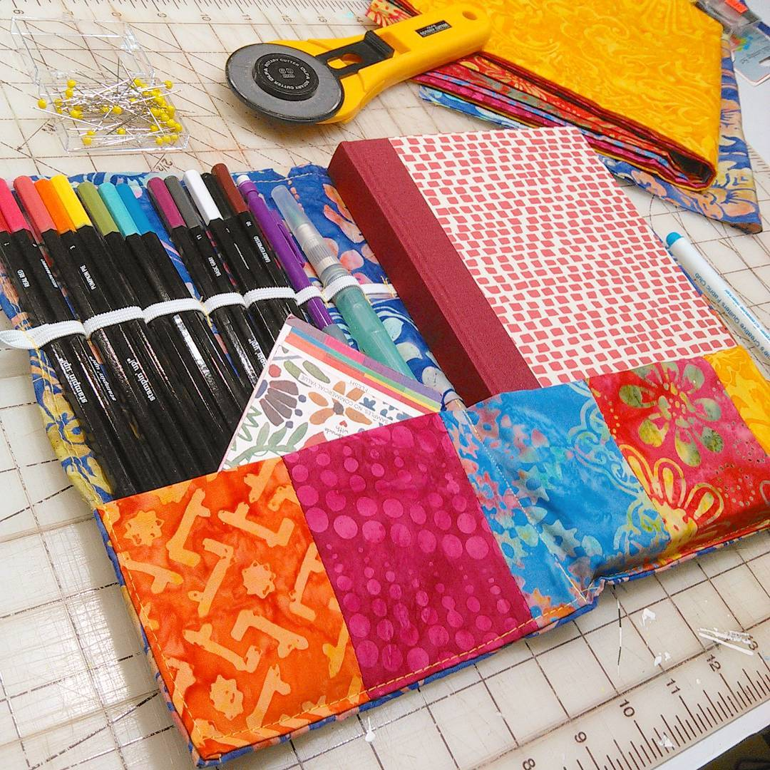 Sew a Quilted Sketchbook & Pencil Wrap!
