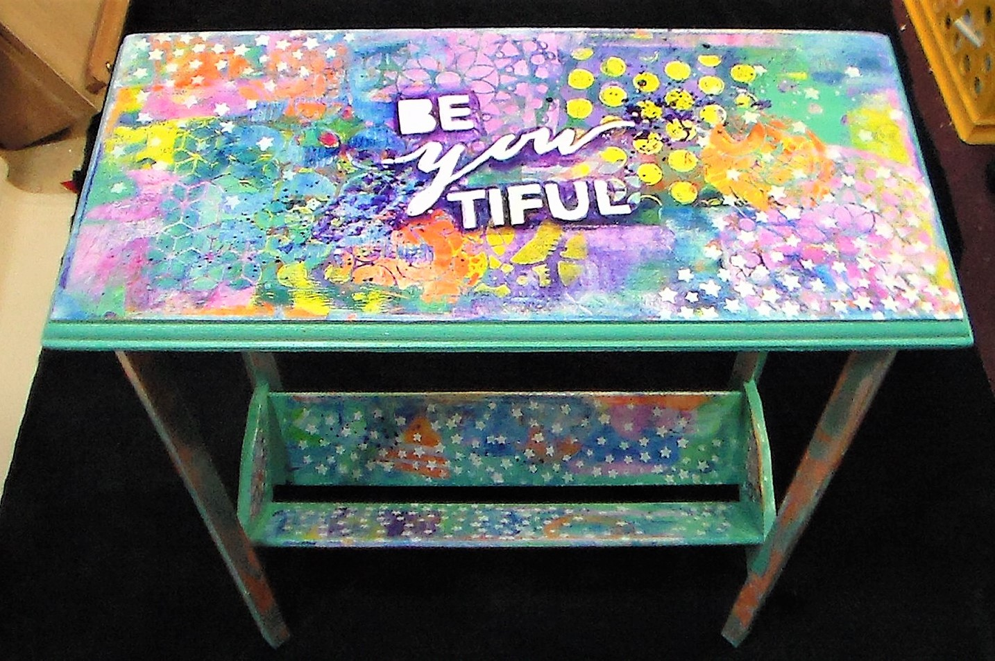 Gel Printing on Furniture!