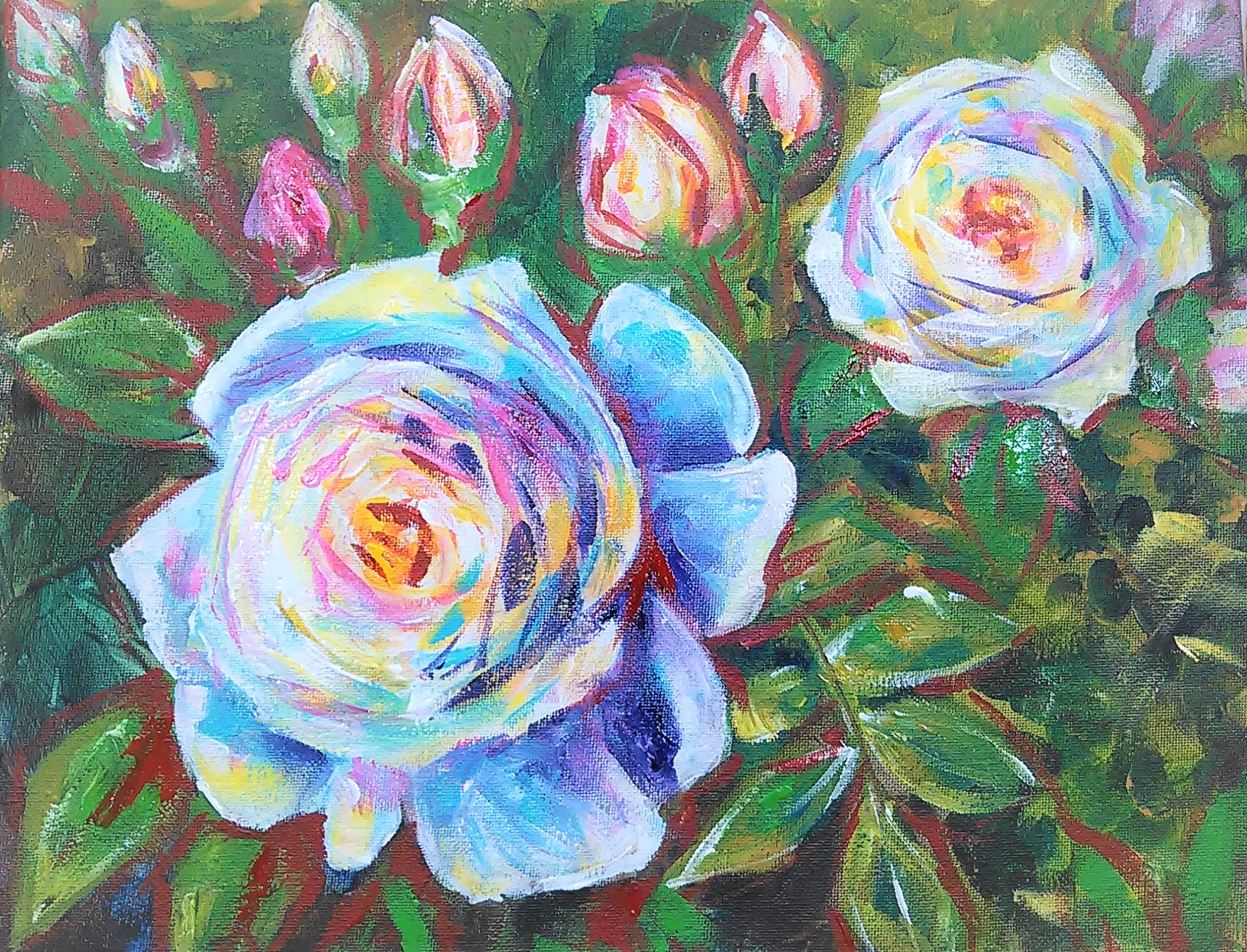 Let's Paint Impressionist Roses!