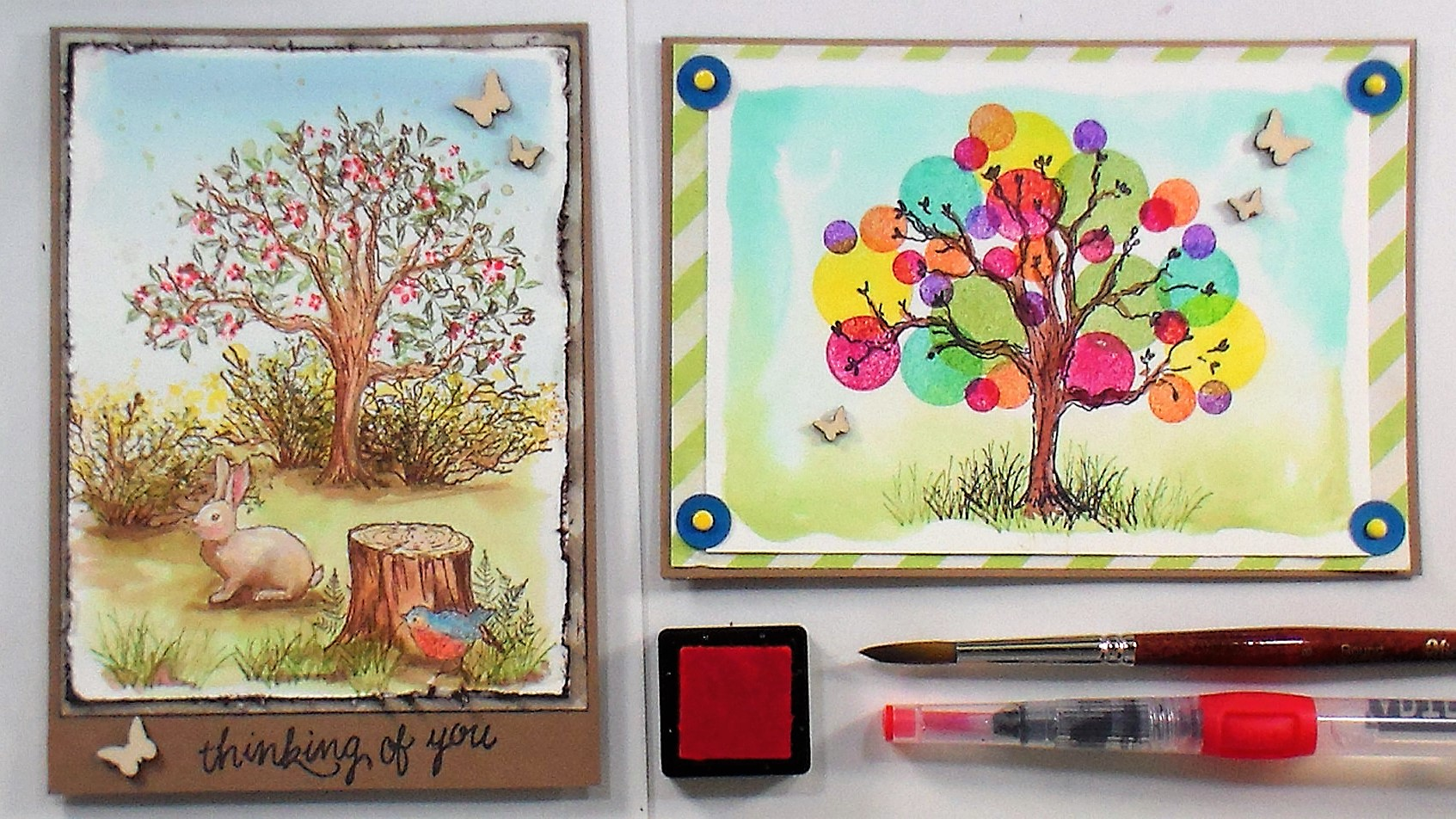 Vintage and Modern Card Ideas with the Same Stamp!