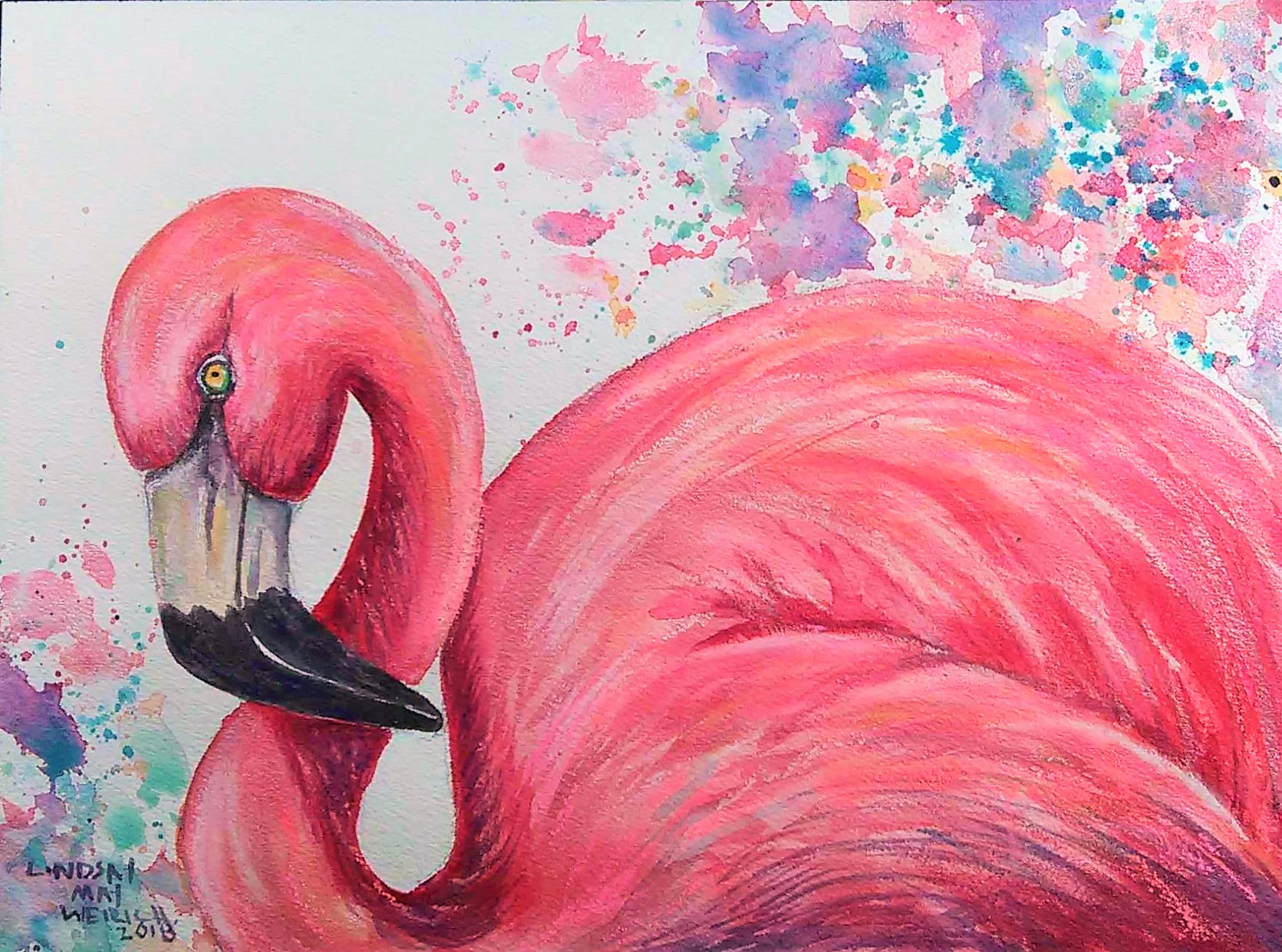 Let's Paint a Colorful Flamingo LIVE Today at 12:30pm ET!