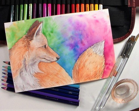watercolor pencil tutorial the frugal crafter blog