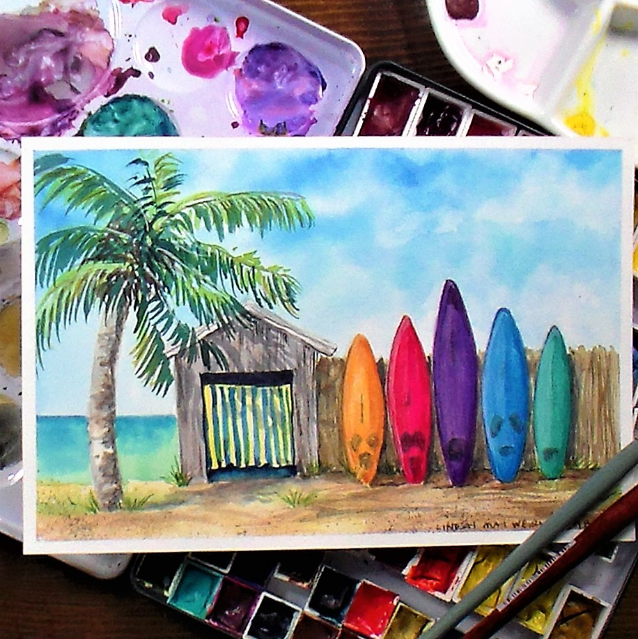 A Summery Painting Tutorial to Warm You Up! 12:30pm ET
