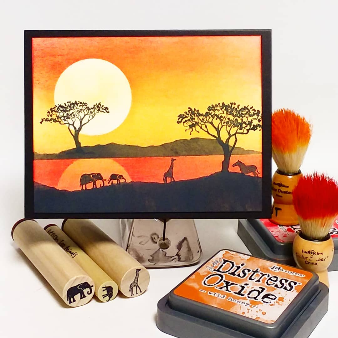 African Sunset Card!