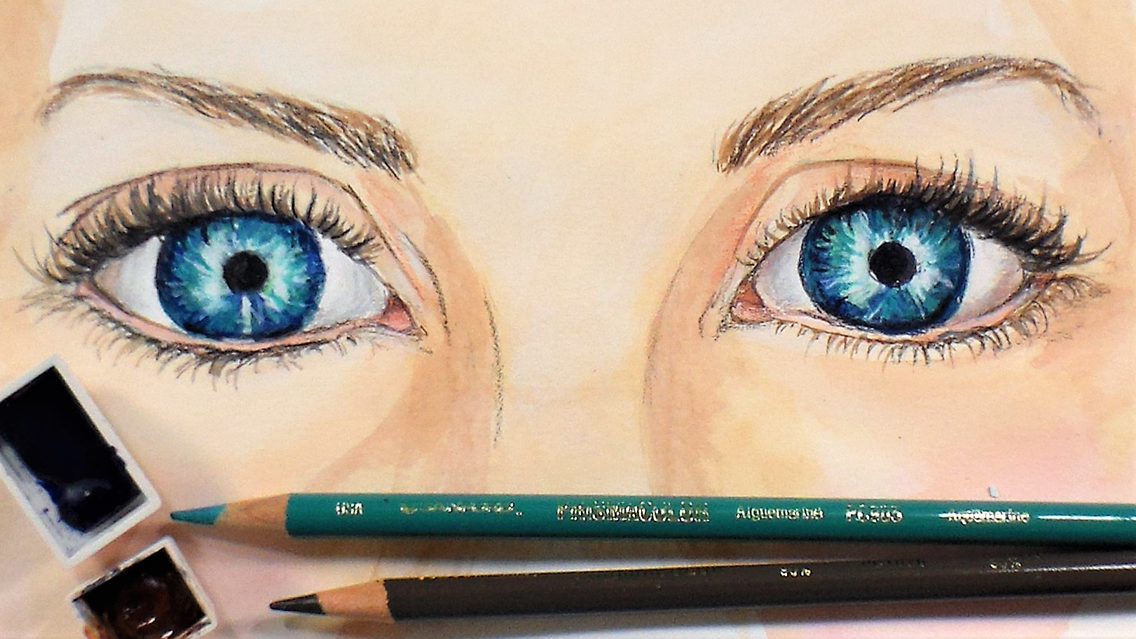 Sketchbook Sunday: The Eyes Have It! & April Artwork
