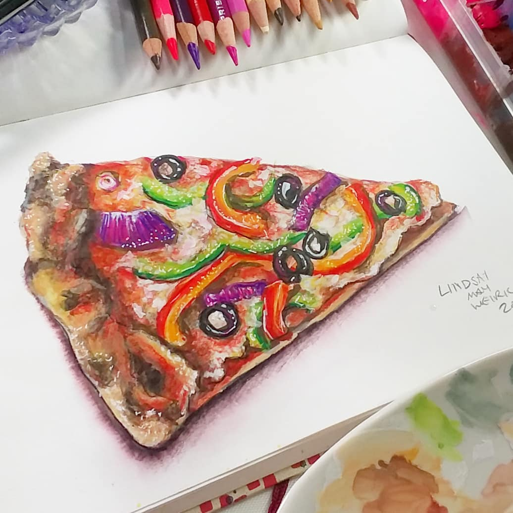 I think I enjoy drawing food more that eating it! Sketchbook Sunday!