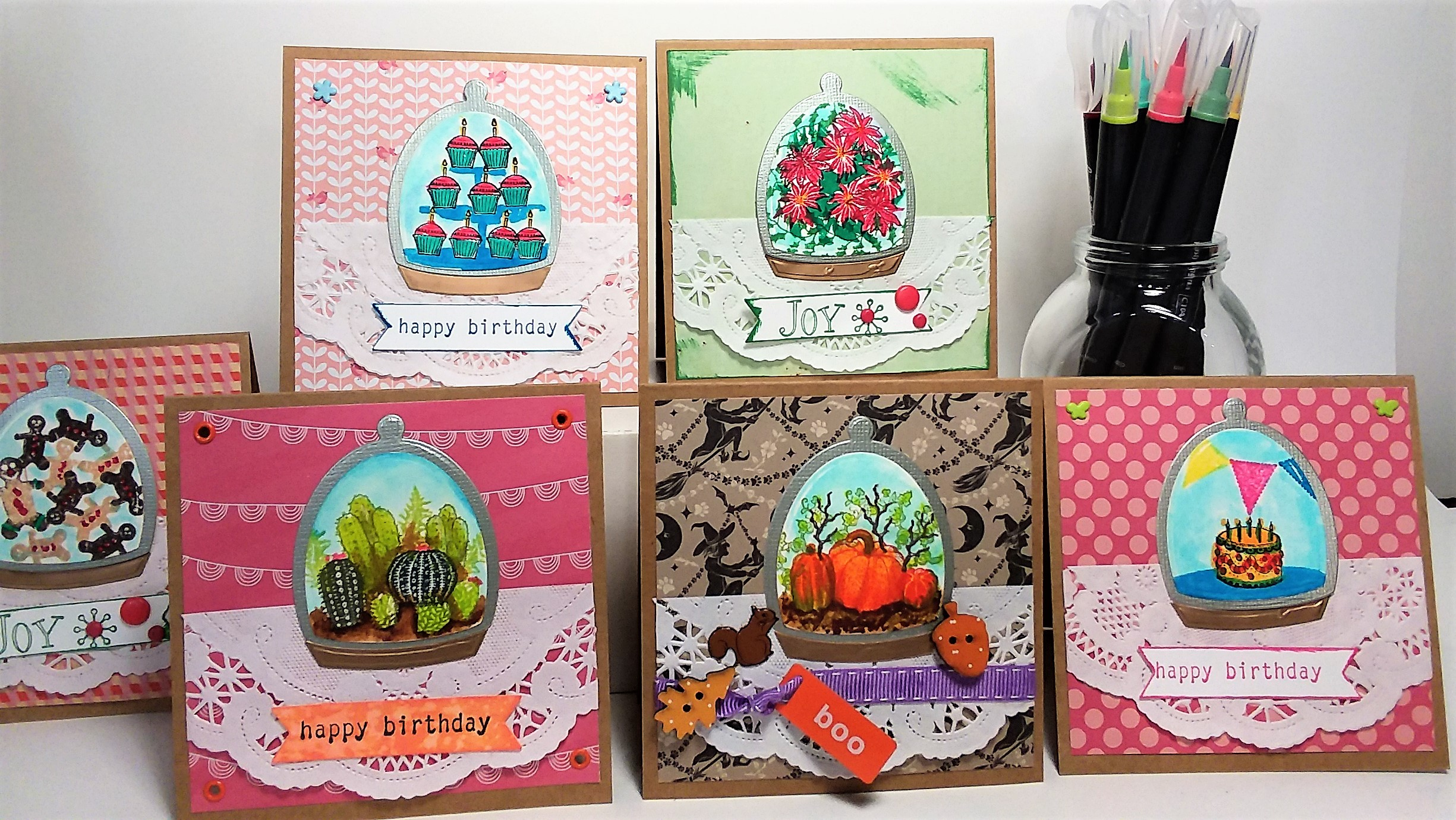 Build a Terrarium! 6 cute cards to make today!