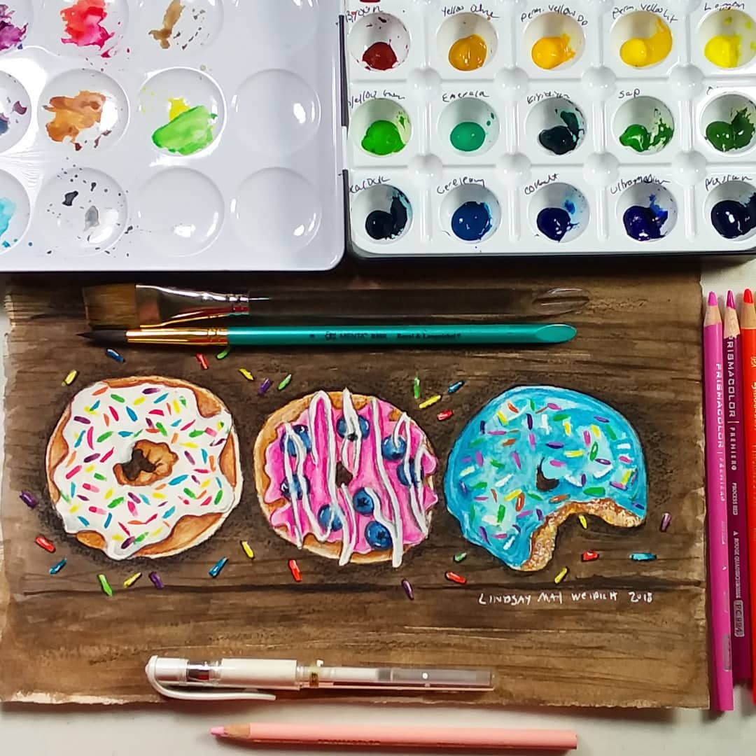 Donuts 2.0 Live Painting Tutorial & Starving the Inner Critic…