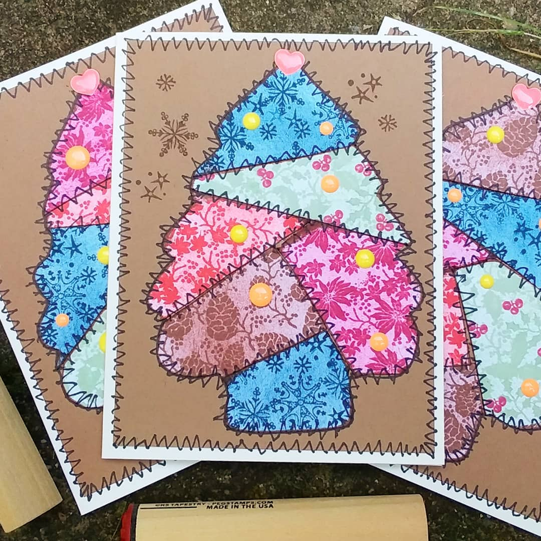 Quilty Christmas Tree Cards!