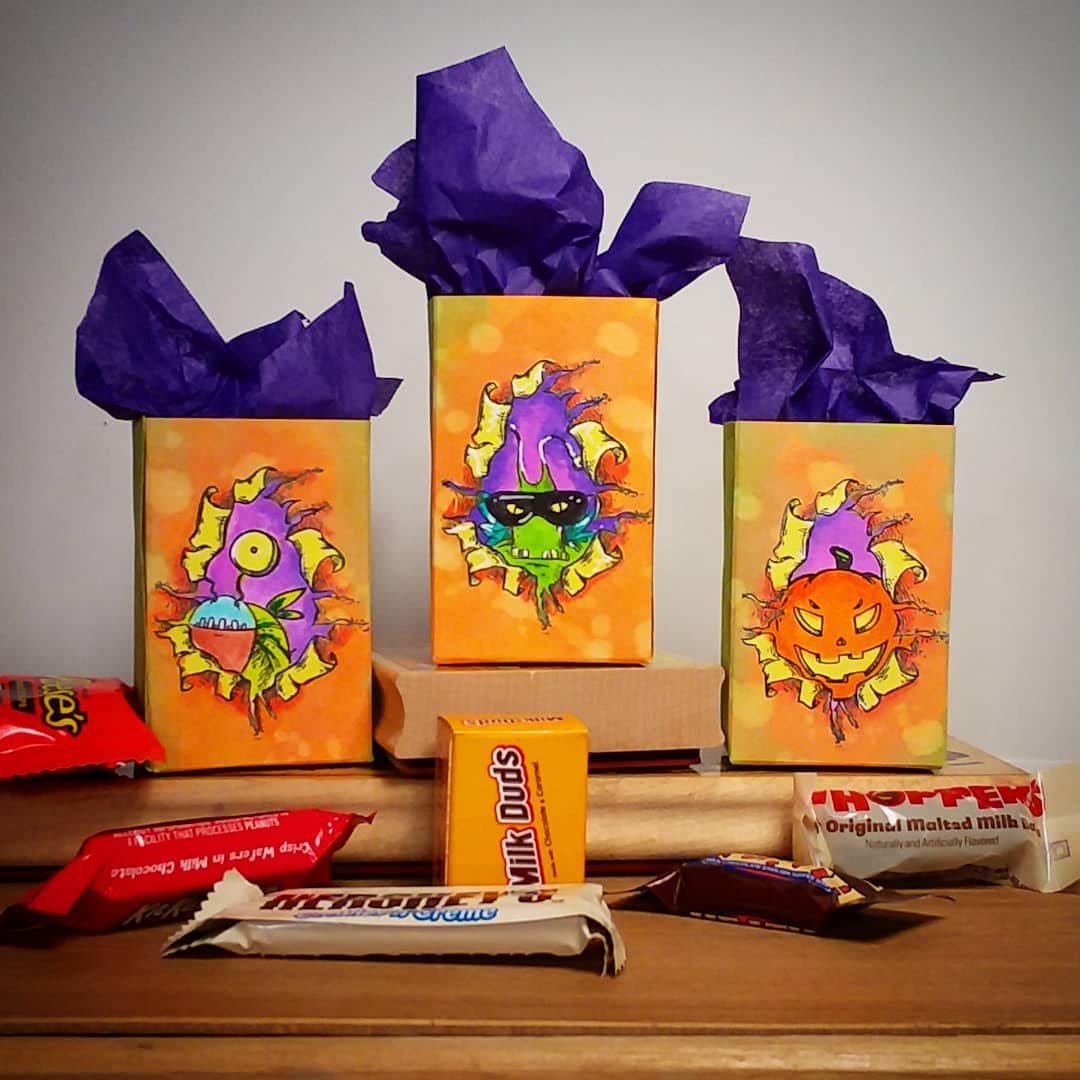 Halloween Treat Bags-No Template Needed!